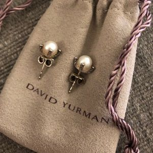 David Yurman Jewelry - David yurman small pearl earrings with diamonds